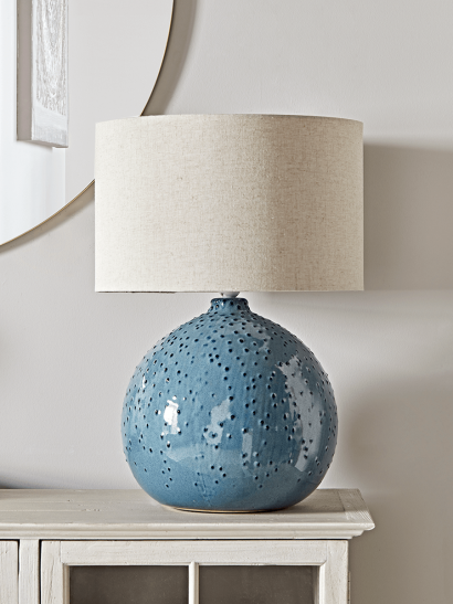 Glazed Dots Table Lamp - Blue