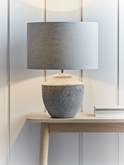 Textured Concrete Table Lamp