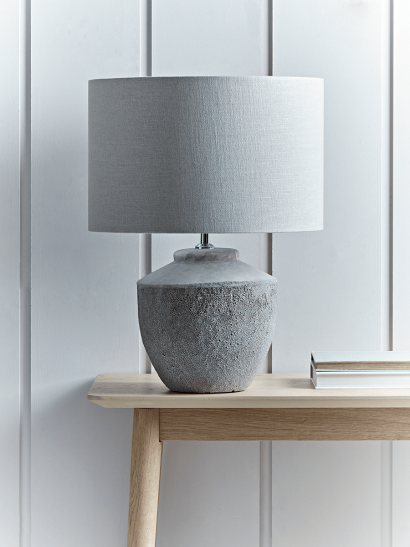 Textured Concrete Table Lamp (Sample)