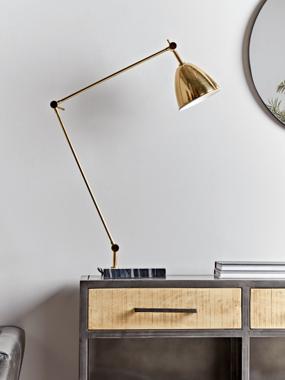 Brass & Marble Desk Lamp
