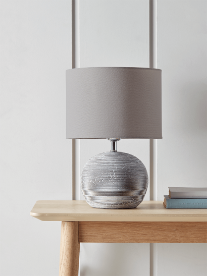 Round Concrete Bedside Lamp