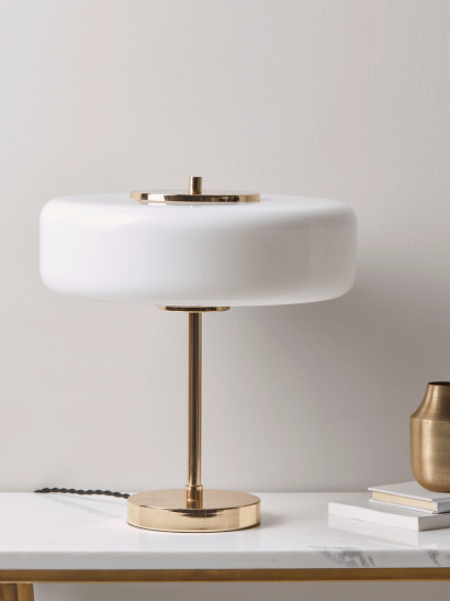 Gold & White Deco Table Lamp