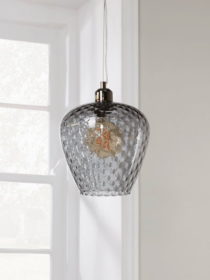 Tapered Textured Pendant - Grey