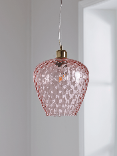 Tapered Textured Pendant - Blush