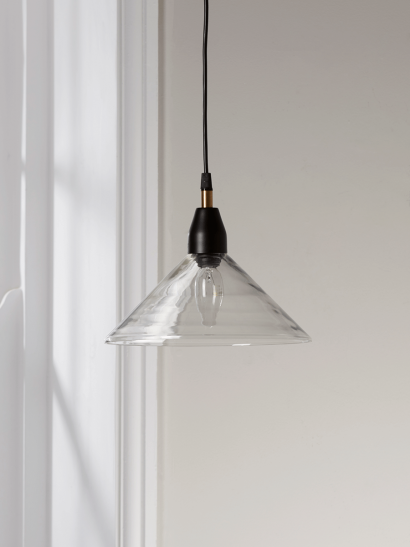 Ribbed Glass Shade Pendant