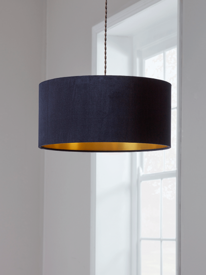 Navy & Gold Velvet Shade