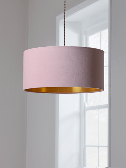 Blush & Gold Velvet Shade