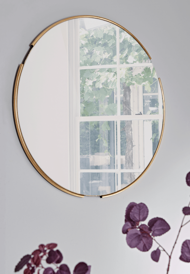 Round Broken Framed Mirror