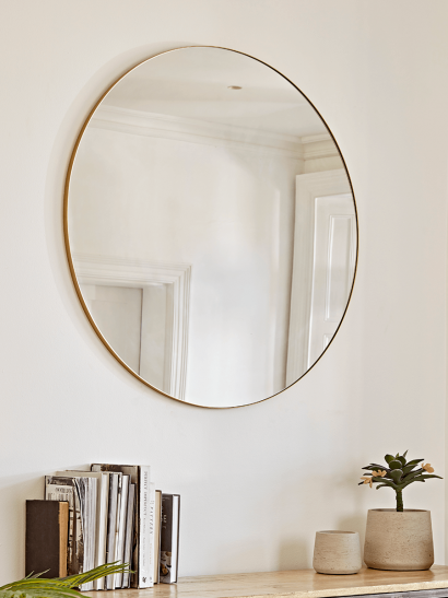 Oversized Frame Mirror - Soft Gold