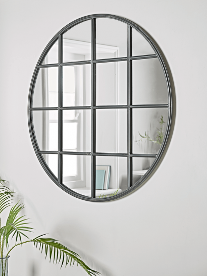 Iron Window Mirror - Round