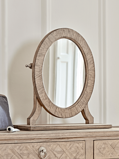 Geometric Parquet Dressing Table Mirror