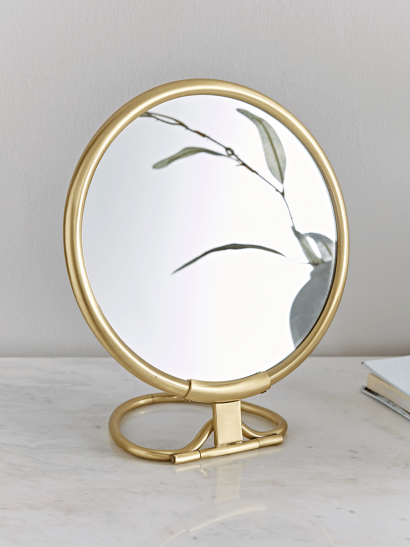 French Vanity Mirror - Brass