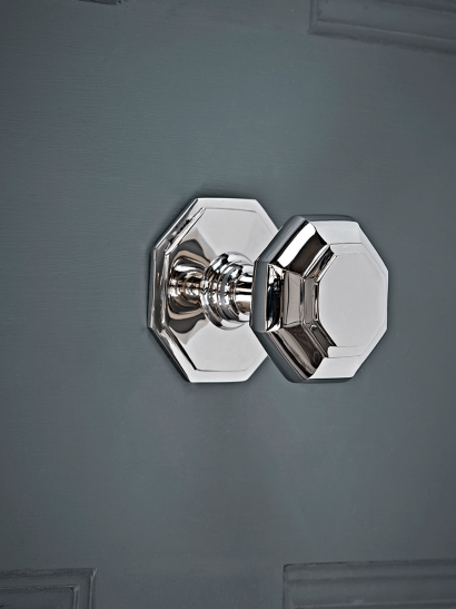 Nickel Octagonal Centre Door Knob