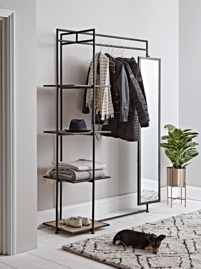 Wood & Metal Clothes Rail