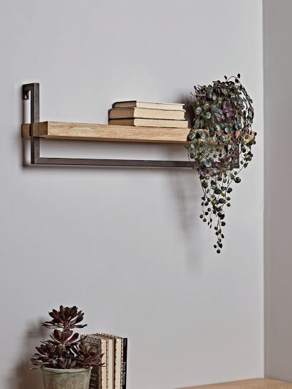Wood & Metal Shelf