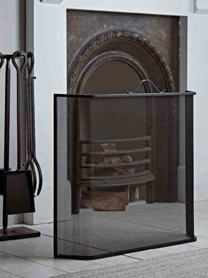 Curved Fire Screen