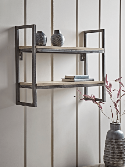 NEW Industrial Iron Shelf Unit