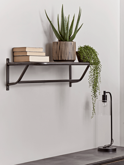 Industrial Wood & Metal Shelf