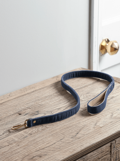 NEW Navy Velvet Dog Lead