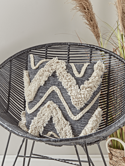 Textured Zig Zag Cushion