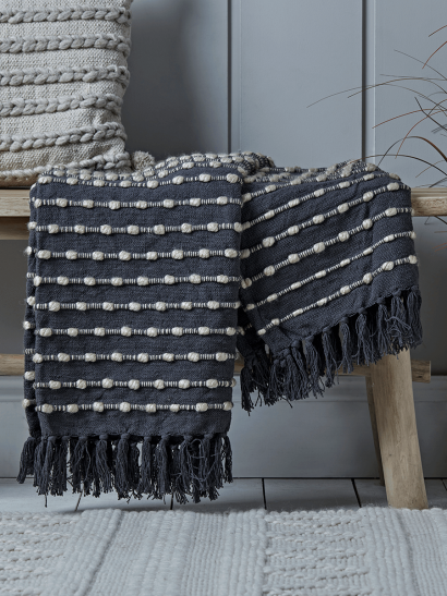 Dotted Throw - Navy