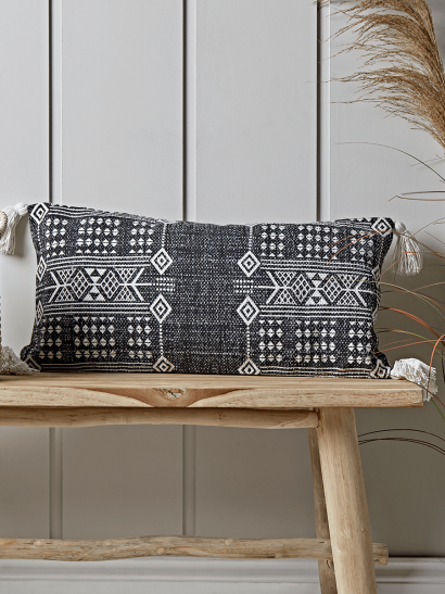 Grey IKAT Cushion