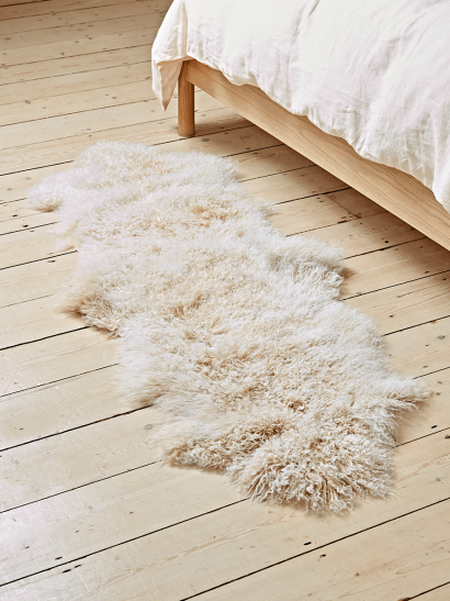 Tibetan Sheepskin Double Rug - Artic Sunrise