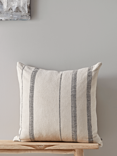 French Striped Cushion - Square