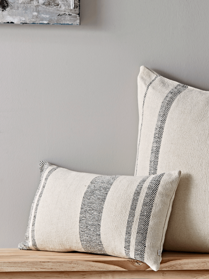 French Striped Cushion - Rectangular
