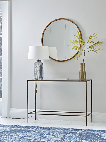 Villette Console Table - Burnished Brass