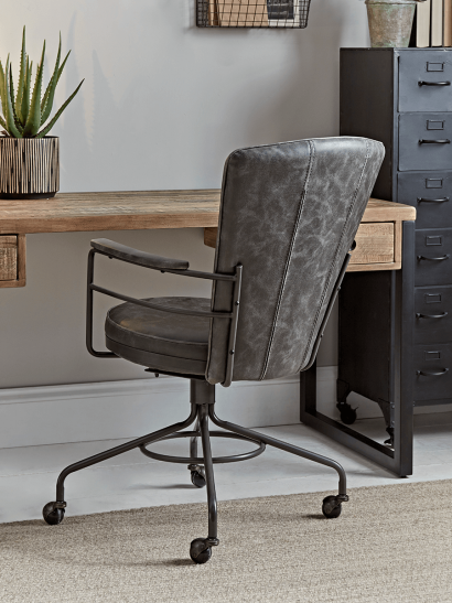 NEW Industrial Style Office Chair - Grey