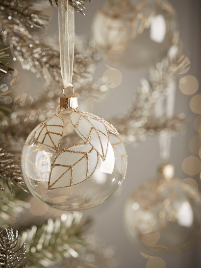 NEW Six Leaf Silhouette Baubles