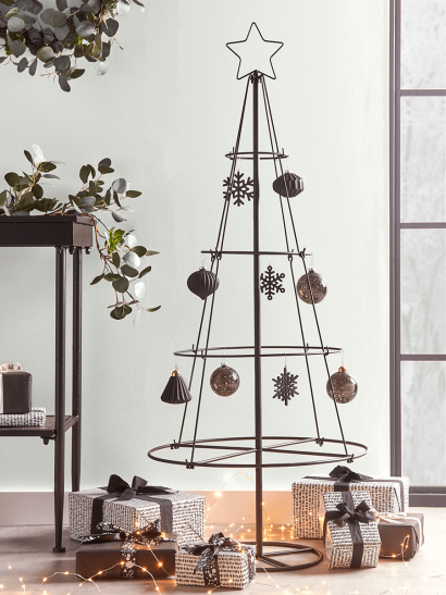 NEW Industrial Metal Christmas Cone Tree