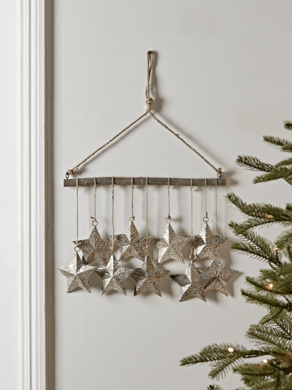 NEW Textured Stars Wall Hanging