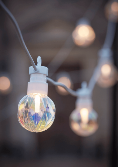 NEW Indoor Outdoor Geometric Lustre Festoon Lights