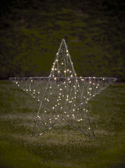 NEW Indoor Outdoor Light Up Wired Star