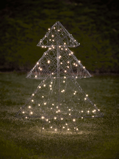 NEW Indoor Outdoor Light Up Wired Tree