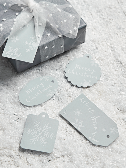 NEW Alpine Snowflakes Gift Tags