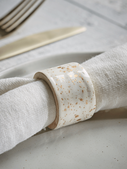 NEW Eight Speckled Napkin Rings