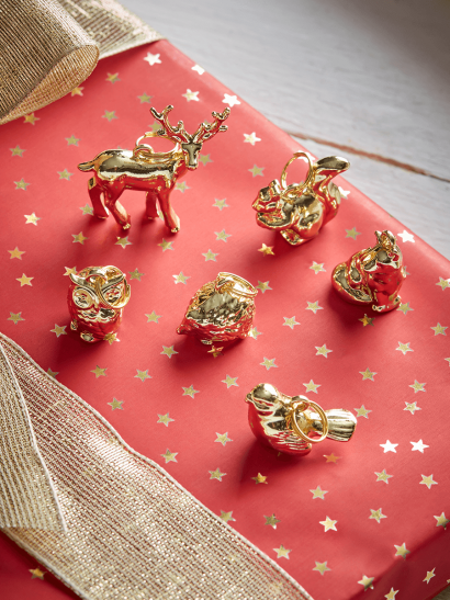 NEW Six Wrapping Charms - Woodland Animals