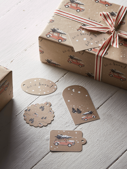 NEW Little Christmas Cars Gift Tags