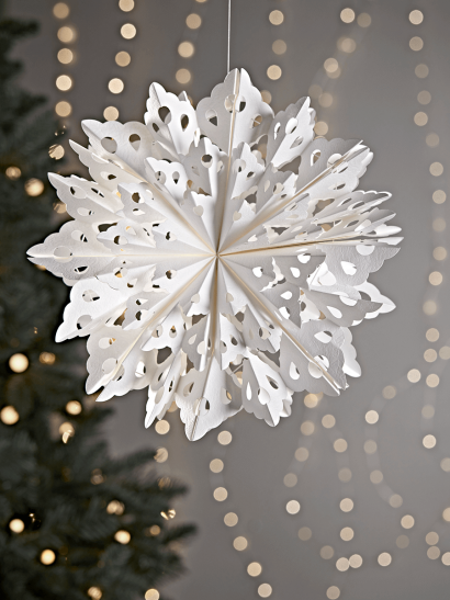 NEW Two Kirigami Snowflakes - Filigree