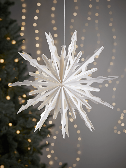 NEW Two Kirigami Snowflakes - Starburst