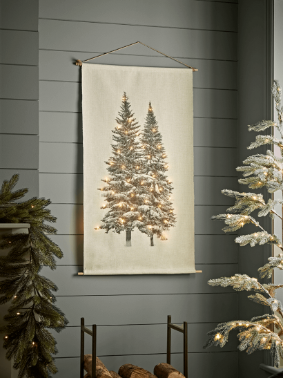 NEW Light Up Tree Woven Wall Hanging