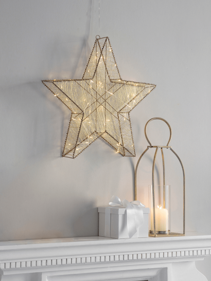 NEW Golden Light Up Wired Star