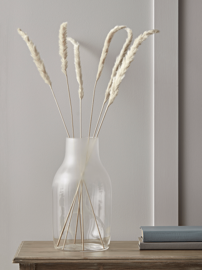 NEW Ombre Frosted Glass Vase