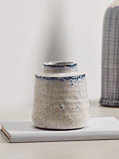 NEW Distressed Speckled Vase