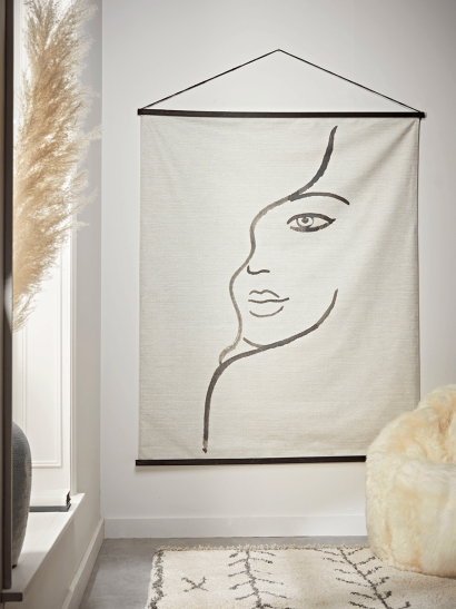 Abstract Face Hanging Canvas