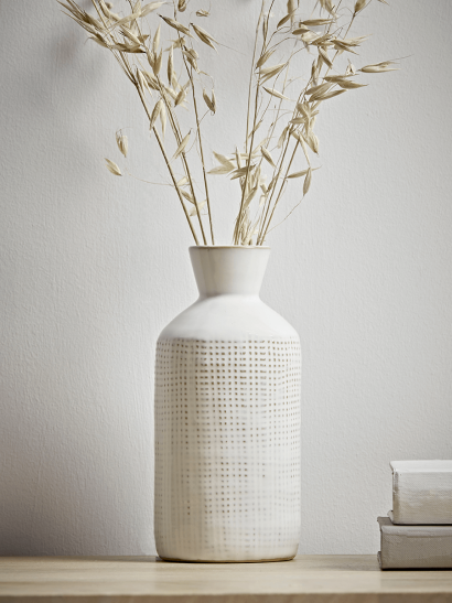 NEW Whitewashed Bottle Vase