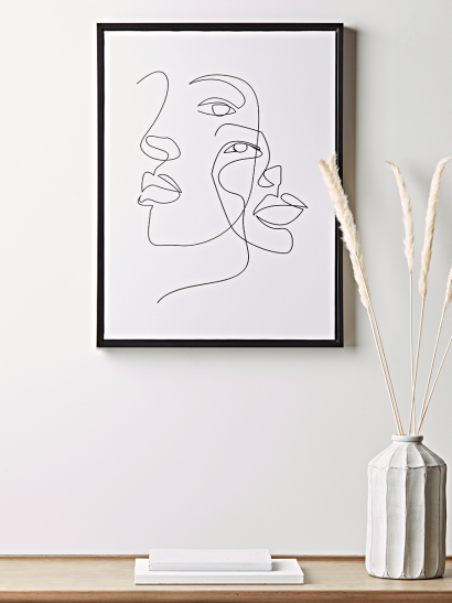 NEW Faces Outline Canvas
